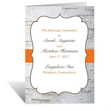 Birch Wood Crest - Wedding Program