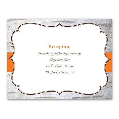 Birch Wood Crest  Reception Card