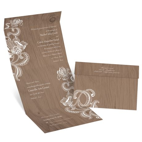 Lotus Sketch Seal and Send Invitation