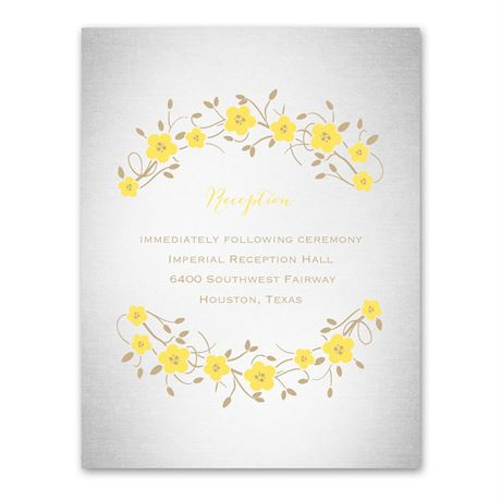 Truly, Madly, Deeply  Reception Card