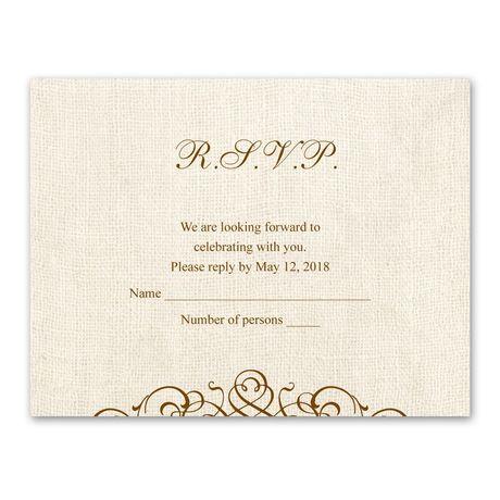 Rustic Love - Response Card and Envelope