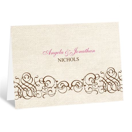Rustic Love  Thank You Card