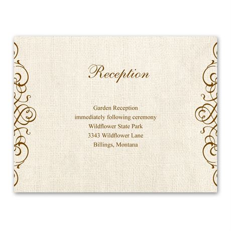 Rustic Love  Reception Card