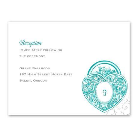 Love Unlocked  Reception Card