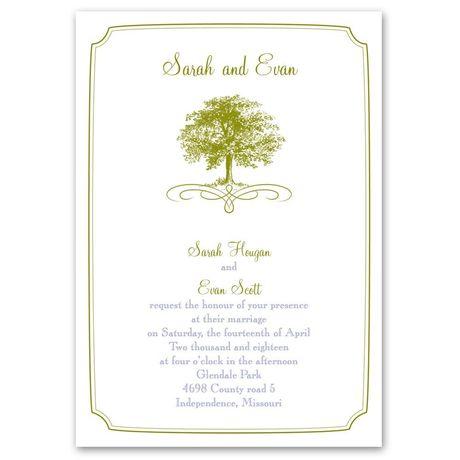 Majestic Oak  Invitation