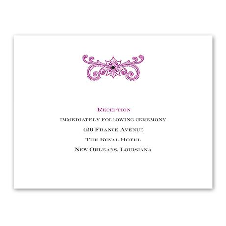 Masquerade  Reception Card