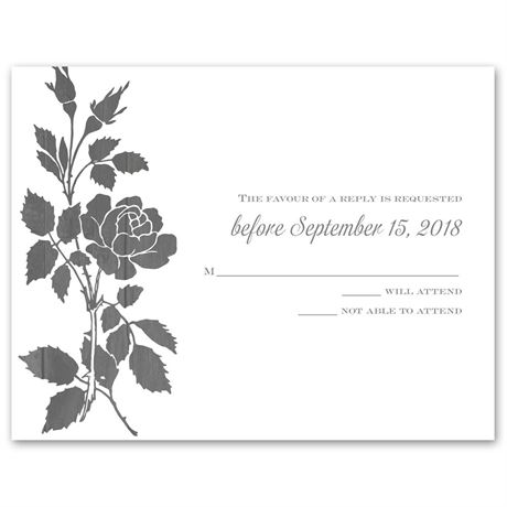Rustic Rose  Response Card