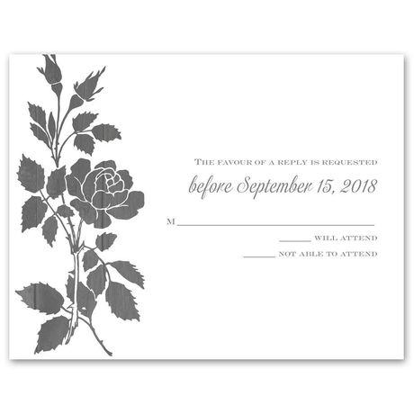 Rustic Rose - Response Card