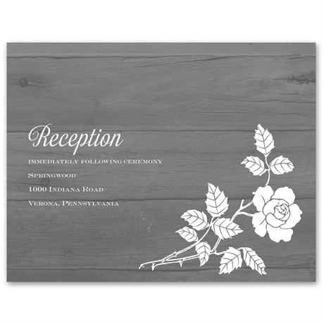 Rustic Rose  Reception Card