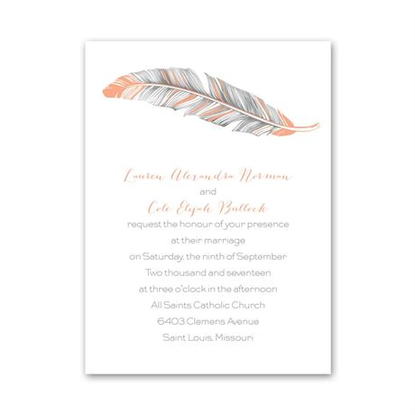 Pretty Feather  Petite Invitation
