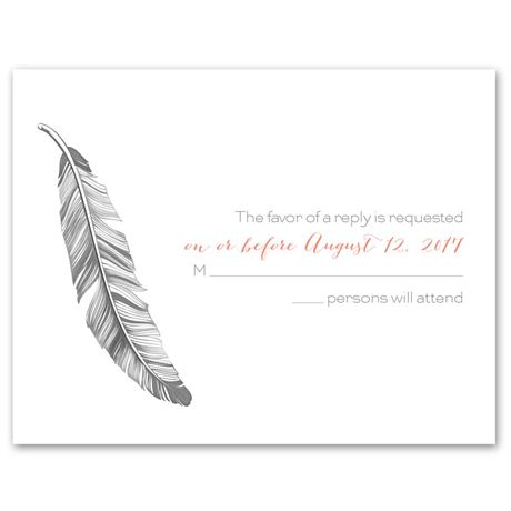 Pretty Feather  Response Card