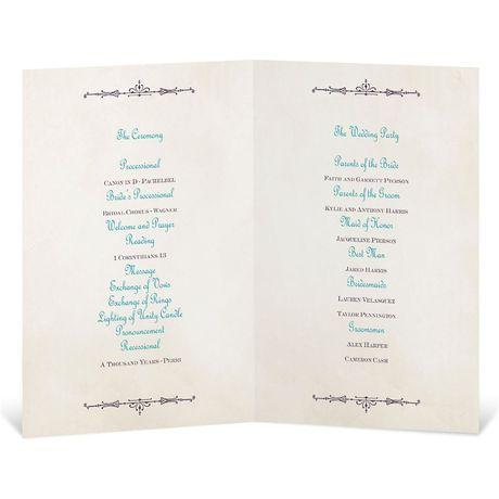 Charmed - Wedding Program