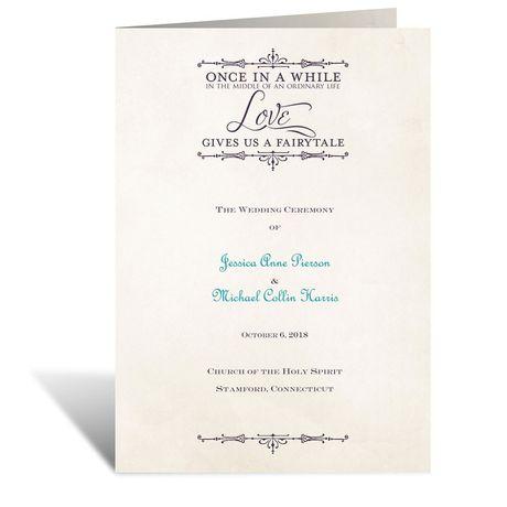 Charmed  Wedding Program
