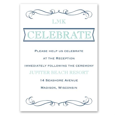 Exhilarating  Reception Card