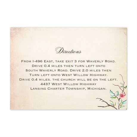 Bluebird Melody - Map Card