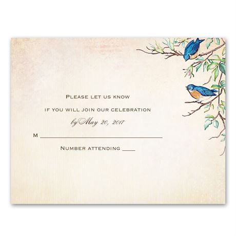 Bluebird Melody  Response Card