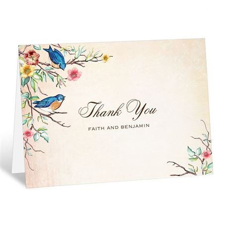 Bluebird Melody  Thank You Card