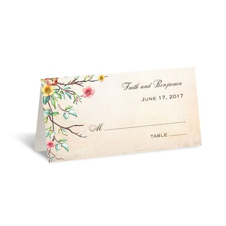 Bluebird Melody  Place Card