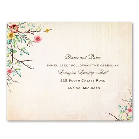 Bluebird Melody  Reception Card