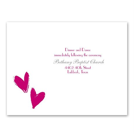 Pure Love  Reception Card