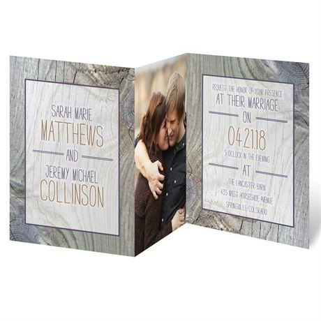 Tree Rings  Photo Invitation