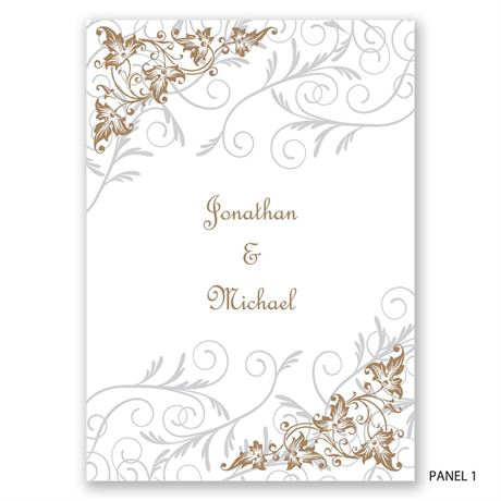 Filigree Leaves - Photo Invitation