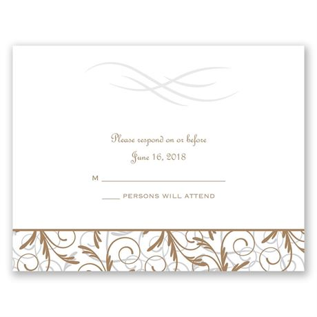 Filigree Leaves  Response Card