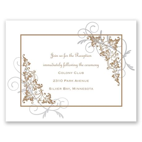 Filigree Leaves  Reception Card