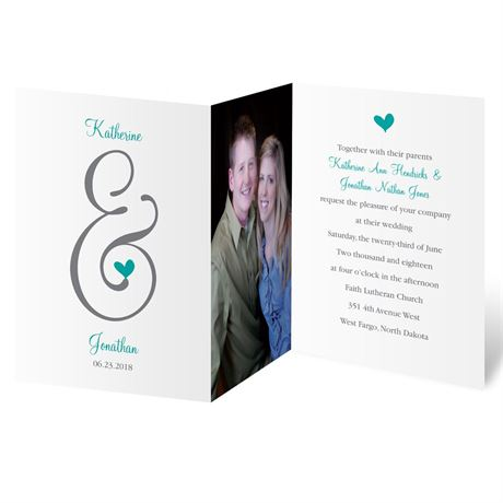 Perched Heart  Photo Invitation