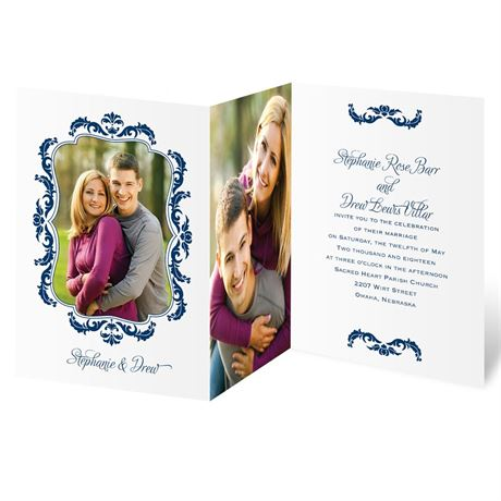 Flourish Crest  Photo Invitation