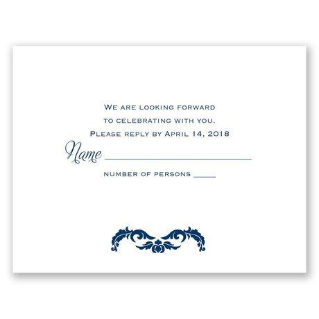 Flourish Crest  Response Card
