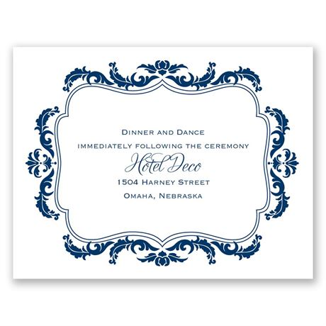 Flourish Crest  Reception Card