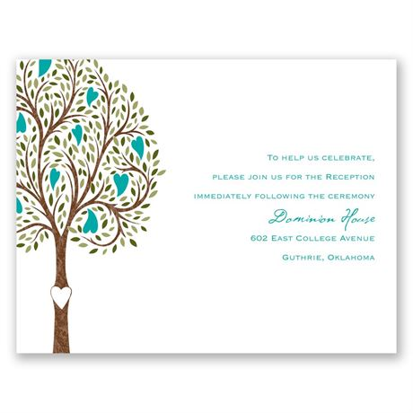 Heart Blossoms  Reception Card