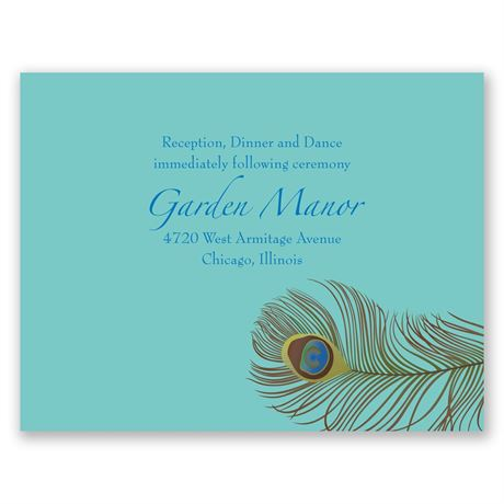 Show of Color  Reception Card