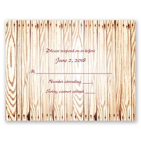 """Gettin"""" Hitched  Response Card"""
