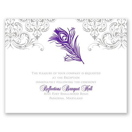 Effortless Beauty  Reception Card