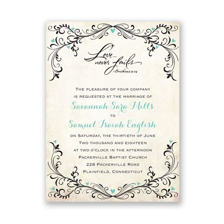 Blossoming Love  Petite Invitation