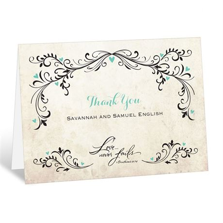 Blossoming Love - Thank You Card