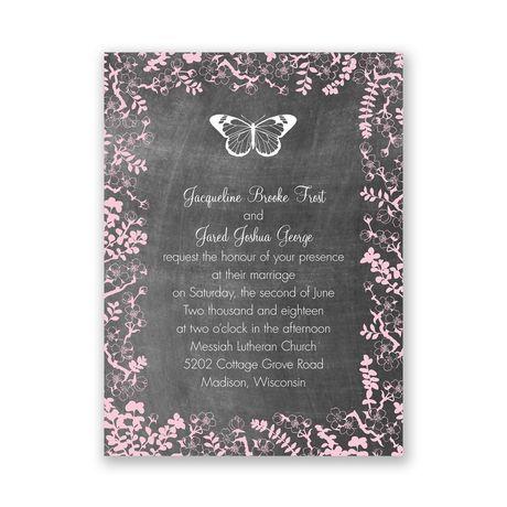 Chalkboard Blossoms  Choose Your Design  Petite Invitation