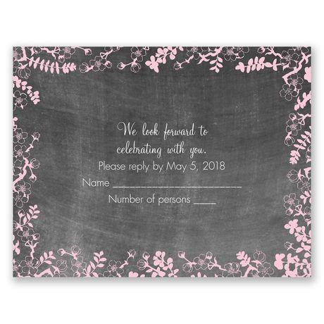 Chalkboard Blossoms  Response Card