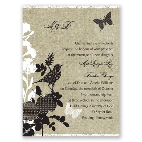 Mixed Patterns  Petite Invitation