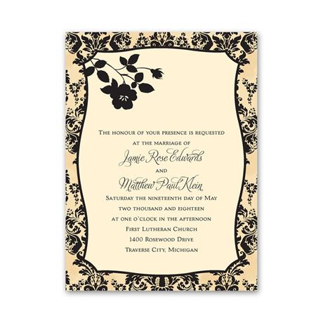 French Floral  Petite Invitation