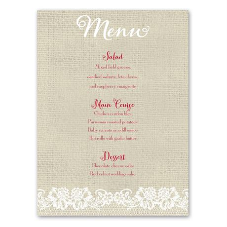 Country Details  Menu Card