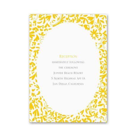 Beautiful Brides  Reception Card