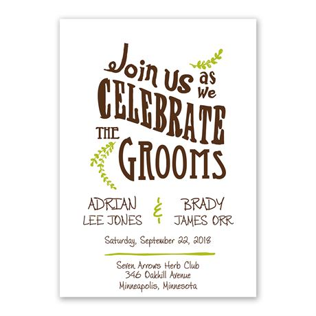 Celebrate the Grooms  Invitation