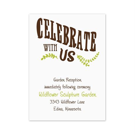 Celebrate the Grooms  Reception Card