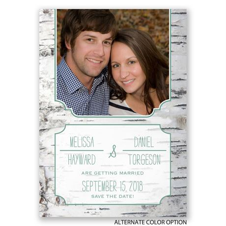 Birch Bark Frame - Save the Date Card