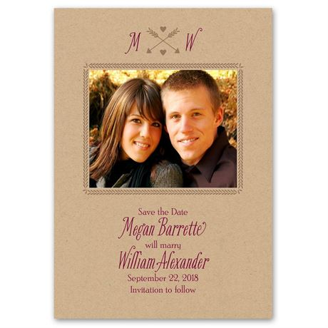 Struck by Love  Save the Date Card