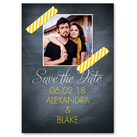 Stuck on Stripes  Save the Date Card