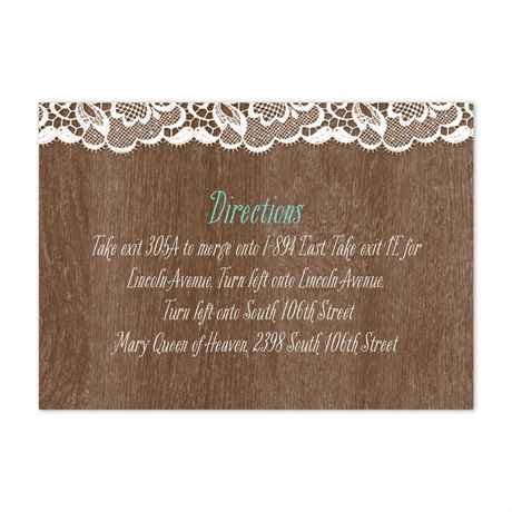 Woodgrain and Lace  Map Card